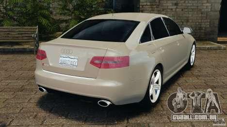 Audi RS6 2010 v1.1 para GTA 4 traseira esquerda vista