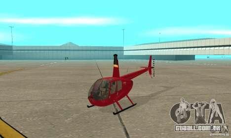 Robinson R44 Raven II NC 1.0 pele 1 para GTA San Andreas esquerda vista