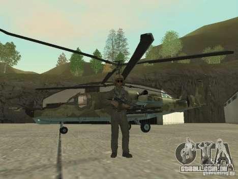 Ka-50 Black Shark para GTA San Andreas esquerda vista