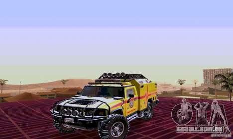 Hummer H2 Ambluance de transformadores para GTA San Andreas