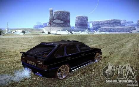 VAZ 2109 carbono para GTA San Andreas traseira esquerda vista