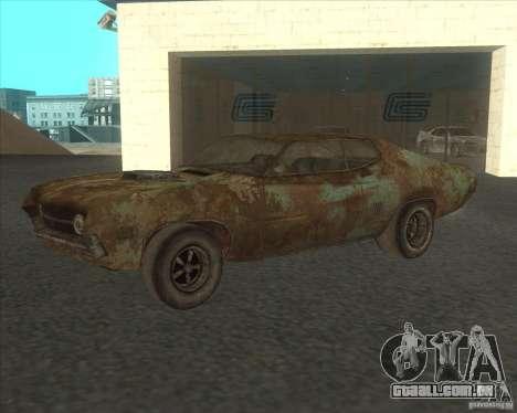 Ford Torino extreme rust 1970 para GTA San Andreas vista interior