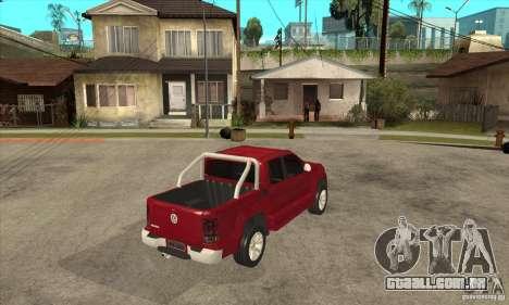 Volkswagen Amarok 2010 para GTA San Andreas vista direita