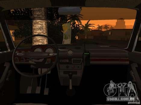 VAZ 2106 polícia v 2.0 para vista lateral GTA San Andreas