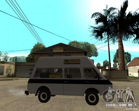 RAPH 22038 taxi para GTA San Andreas vista direita