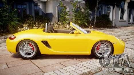 Porsche Boxster S para GTA 4 esquerda vista