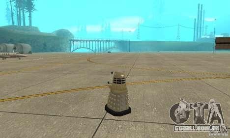Dalek Doctor Who para GTA San Andreas traseira esquerda vista