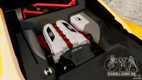 Audi R8 GT Coupe 2011 para GTA 4 vista de volta