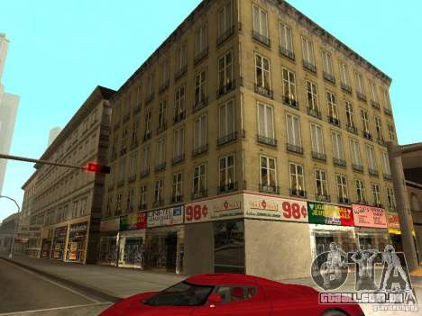 Novo centro de texturas Los Santos para GTA San Andreas segunda tela