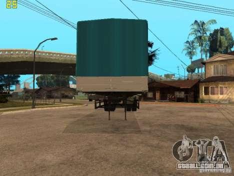 Nefaz 93344 trailer para GTA San Andreas traseira esquerda vista