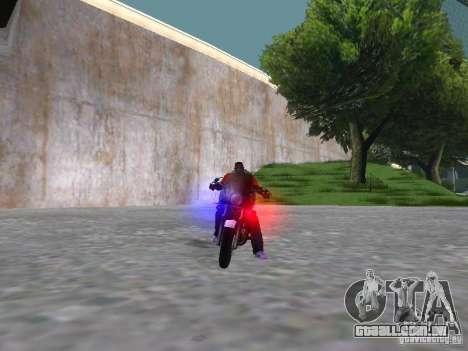 Harley Davidson Dyna Defender para GTA San Andreas vista interior