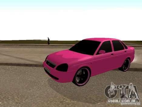 Lada Priora Emo para GTA San Andreas esquerda vista