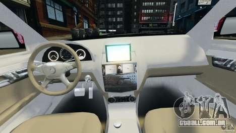 Mercedes-Benz C350 Avantgarde v2.0 para GTA 4 vista de volta
