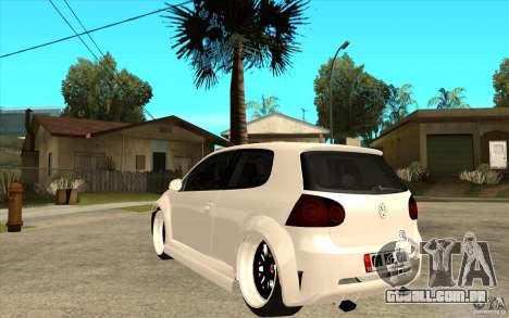 VW Golf 5 GTI Tuning para GTA San Andreas traseira esquerda vista
