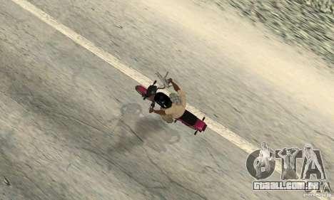 ZID coruja 175 v 2.0 para GTA San Andreas vista traseira