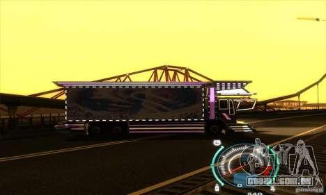 Caminhão japonês para GTA San Andreas vista direita
