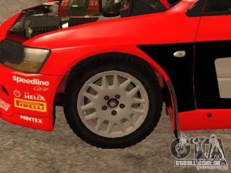 Mitsubishi Lancer Evo IX DiRT2 para GTA San Andreas interior