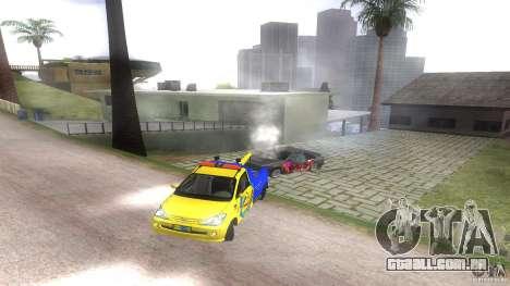 Toyota Avanza Towtruck para GTA San Andreas vista traseira