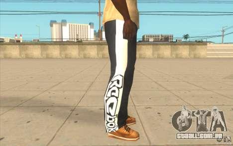 Reebok Sporthose para GTA San Andreas por diante tela