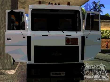 MAZ 533702 caminhão para GTA San Andreas vista superior