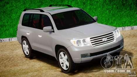 Toyota Land Cruiser 200 2007 para GTA 4 esquerda vista