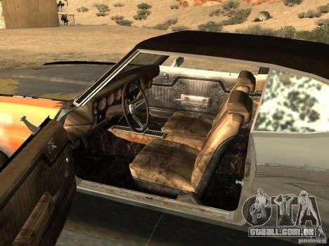 Chevrolet Chevelle Rustelle para GTA San Andreas traseira esquerda vista
