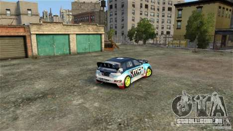 Subaru Impreza WRX STI Rallycross KMC Wheels para GTA 4 vista lateral