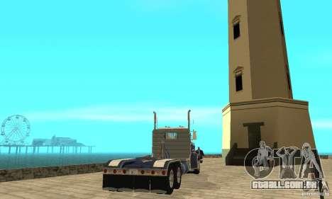 Peterbilt 359 1978 para GTA San Andreas traseira esquerda vista