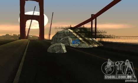 Ponte destruída em San Fierro para GTA San Andreas segunda tela