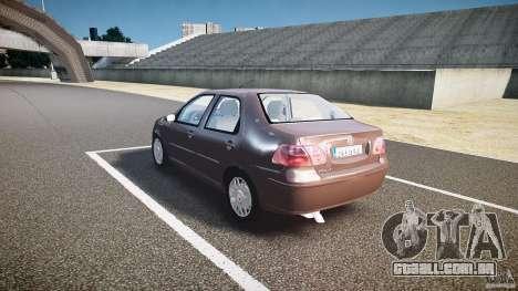 Fiat Albea Sole (Bug Fix) para GTA 4 traseira esquerda vista
