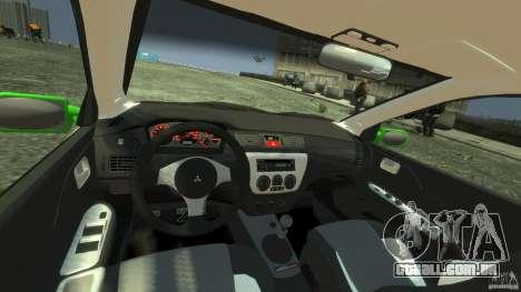 Mitsubishi Lancer Evo IX Tuning para GTA 4 vista direita