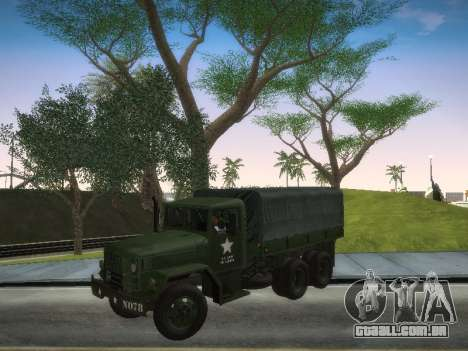 AM General M35A2 para GTA San Andreas traseira esquerda vista