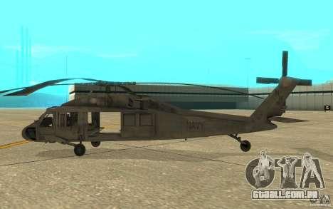 UH-80 para GTA San Andreas traseira esquerda vista