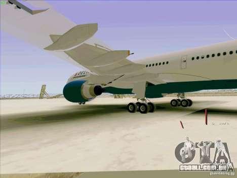 Airbus A330-200 para GTA San Andreas vista interior
