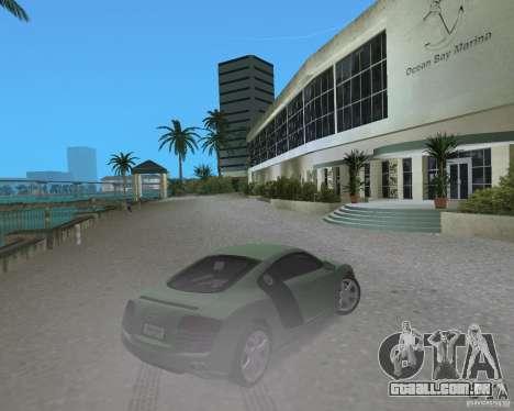 Audi R8 4.2 Fsi para GTA Vice City vista traseira esquerda