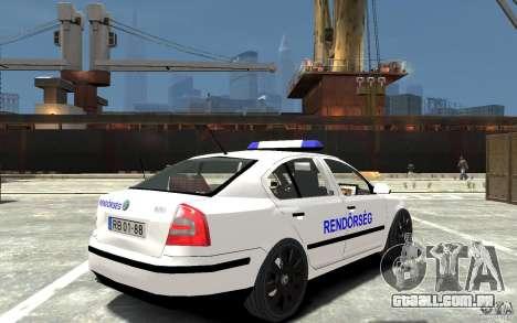 Skoda Octavia 2005 Hungarian Police para GTA 4 vista direita