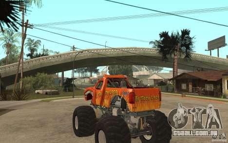 El Toro Loco para GTA San Andreas traseira esquerda vista