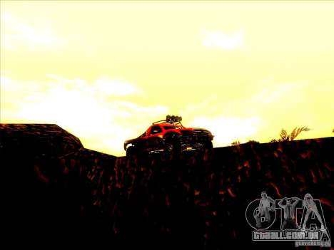 Toyota Tundra Rally para GTA San Andreas vista interior