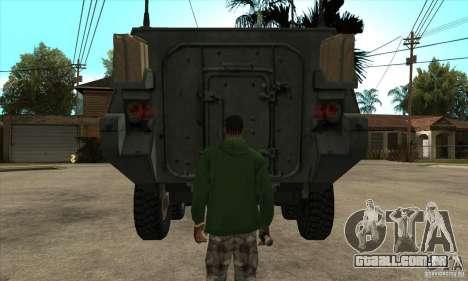 Stryker para GTA San Andreas vista interior