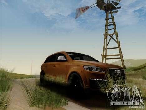 Audi Q7 2010 para GTA San Andreas vista traseira