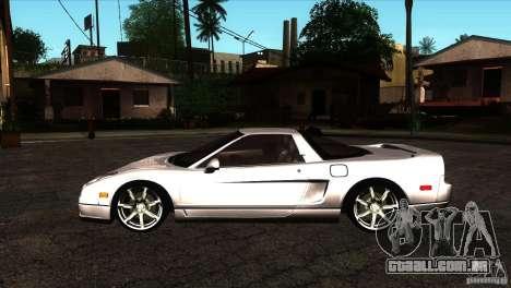 Acura NSX Stock para GTA San Andreas esquerda vista