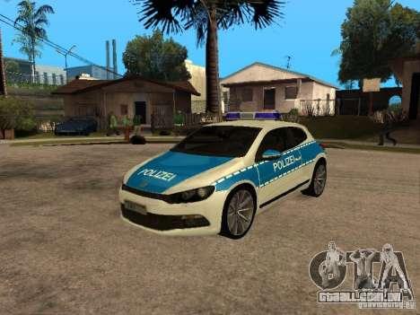 Volkswagen Scirocco German Police para GTA San Andreas