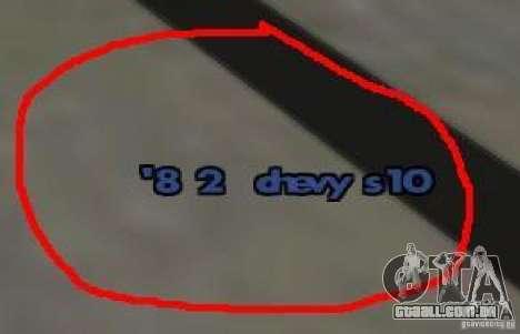 TBoGTHUDaddon para GTA San Andreas segunda tela
