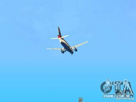 Airbus A320 British Airways para GTA San Andreas vista superior
