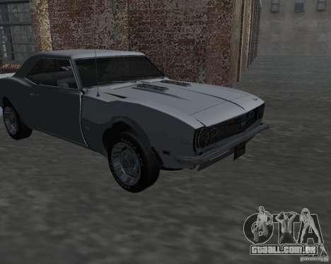 Chevrolet Camaro SS para GTA San Andreas vista interior