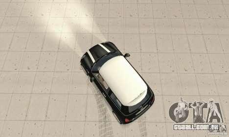 Mini Cooper Hardtop para GTA San Andreas vista direita