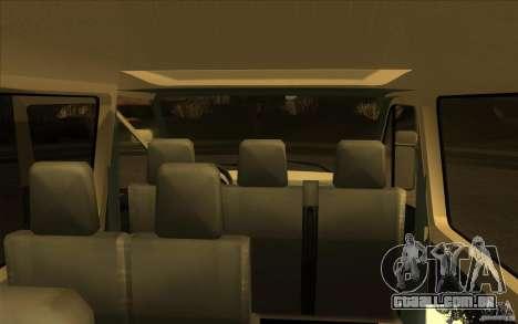 Mercedes Benz Sprinter 315 CDI para GTA San Andreas vista traseira