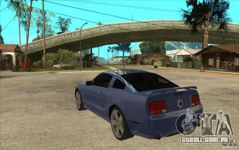Ford Mustang 2005 para GTA San Andreas traseira esquerda vista