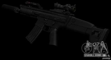 SCAR-L black para GTA San Andreas terceira tela