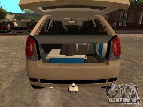 Fiat Palio 1.8R para GTA San Andreas vista traseira